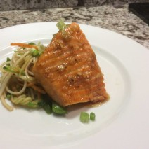 King Salmon With Asian Noodle Salad